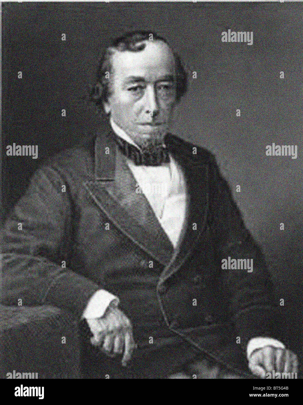 Benjamin Disraeli, 1st Earl of Beaconsfield, KG, PC, FRS, (21 December 1804 – 19 April 1881) was a British Prime Minister. From the archives of Press Portrait Service (formerly Press Portrait Bureau) Stock Photo