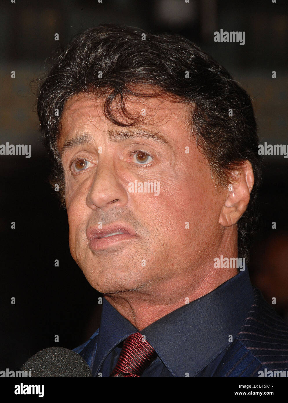 SYLVESTER STALLONE   US film actor in October 2010 Photo Jeffrey Mayer - Stock Image