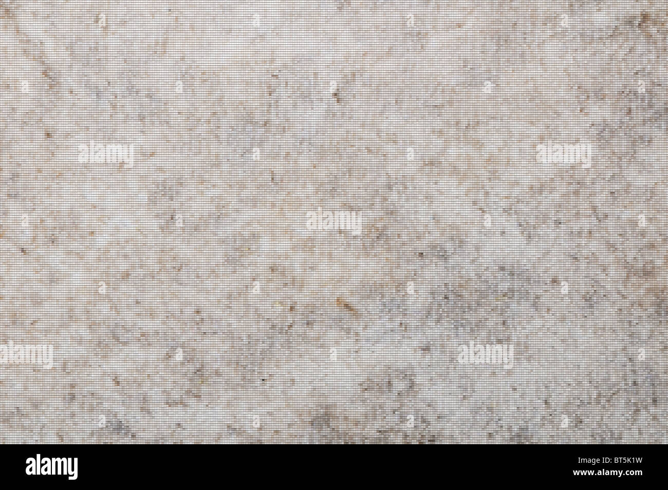 Mosaic made of patches in soft white, grey and brown tones. - Stock Image