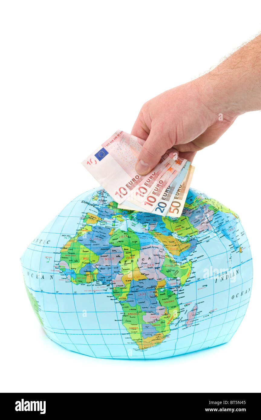 Globe to buy - Stock Image