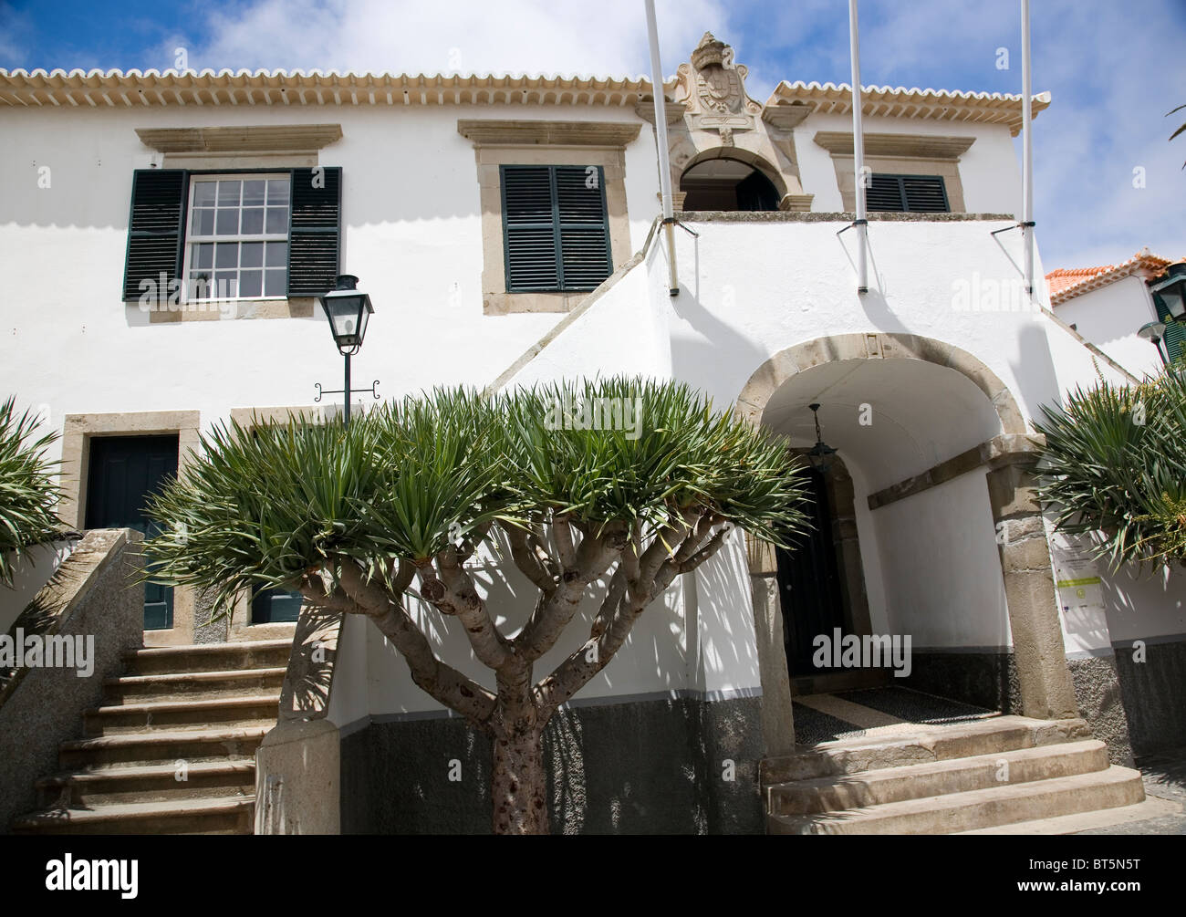 Building in Vila Baleira, town in Porto Santo - Stock Image