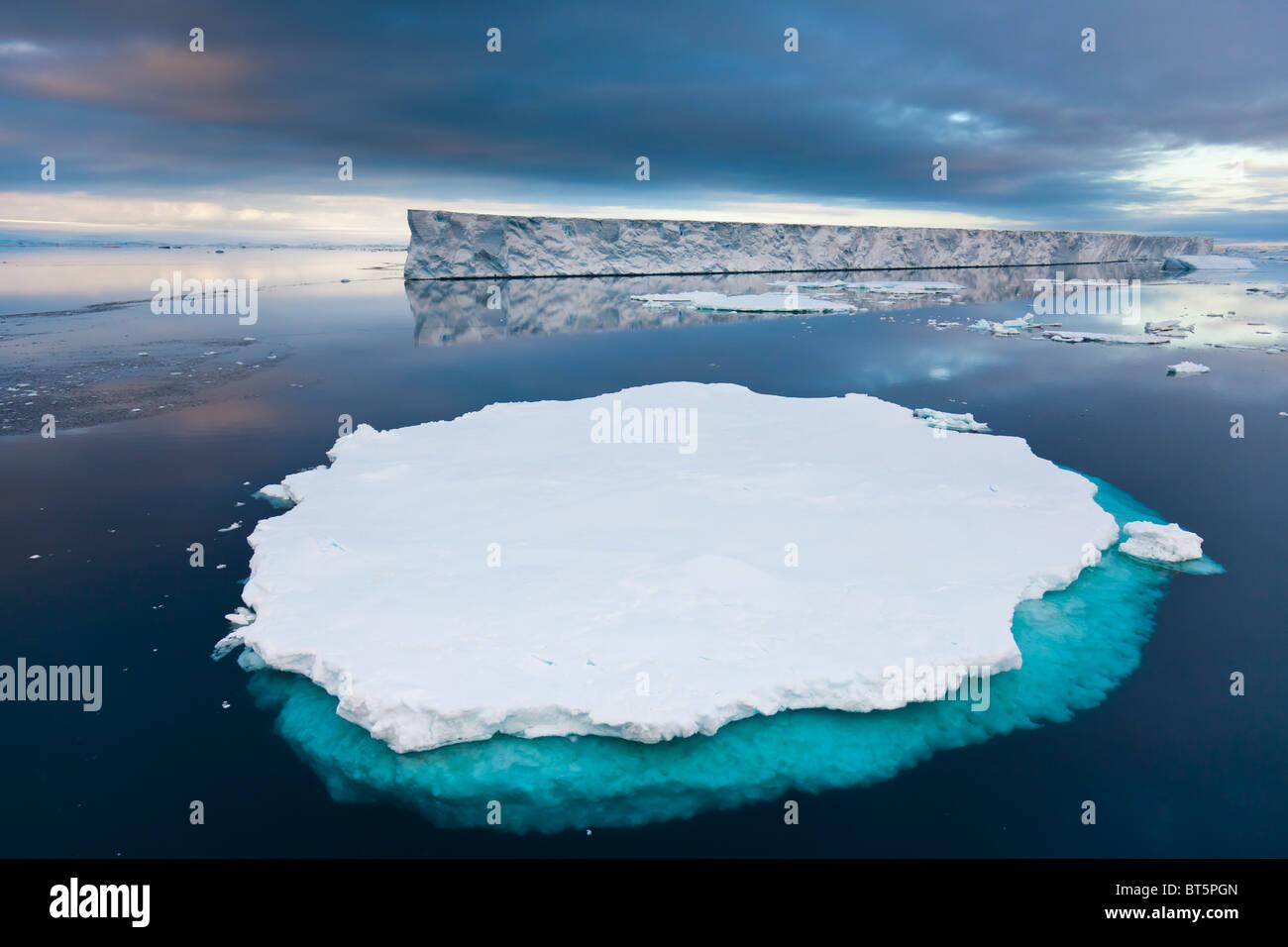 Large tabular iceberg near Paulet Island, Antarctic Peninsula. - Stock Image