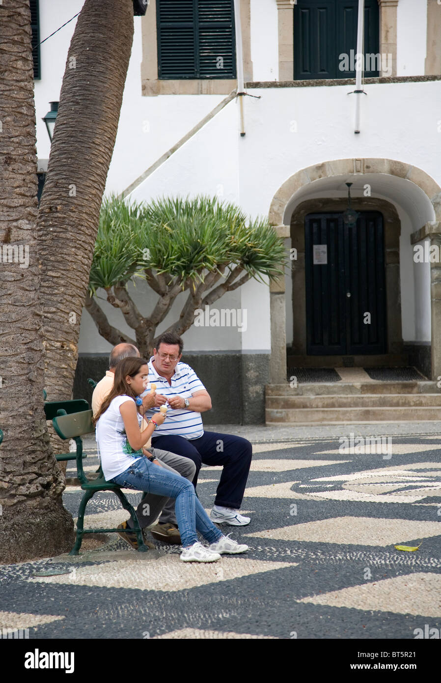 Village Square in Porto Santo - Stock Image