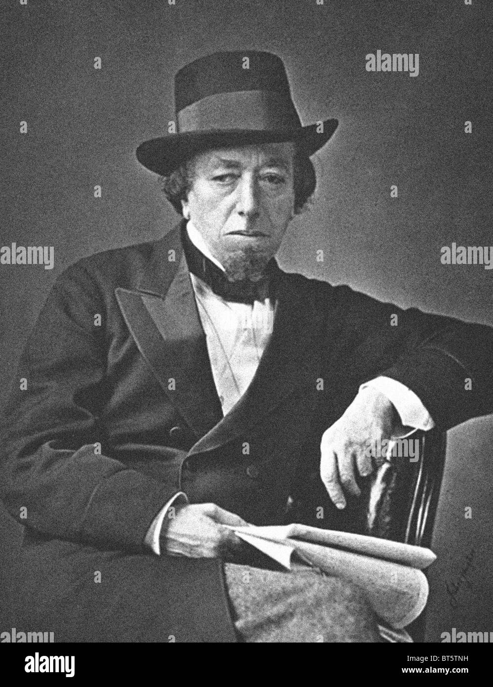 Benjamin Disraeli, 1st Earl of Beaconsfield, KG, PC, FRS, (21 December 1804 – 19 April 1881) was a British Prime Minister.From the archives of Press Portrait Service (formerly Press Portrait Bureau) Stock Photo