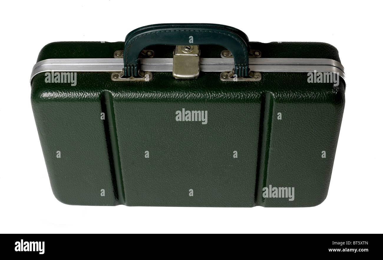 Green plastic case - Stock Image