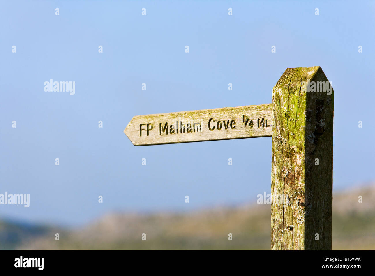 Directions to Malham Cove - Stock Image
