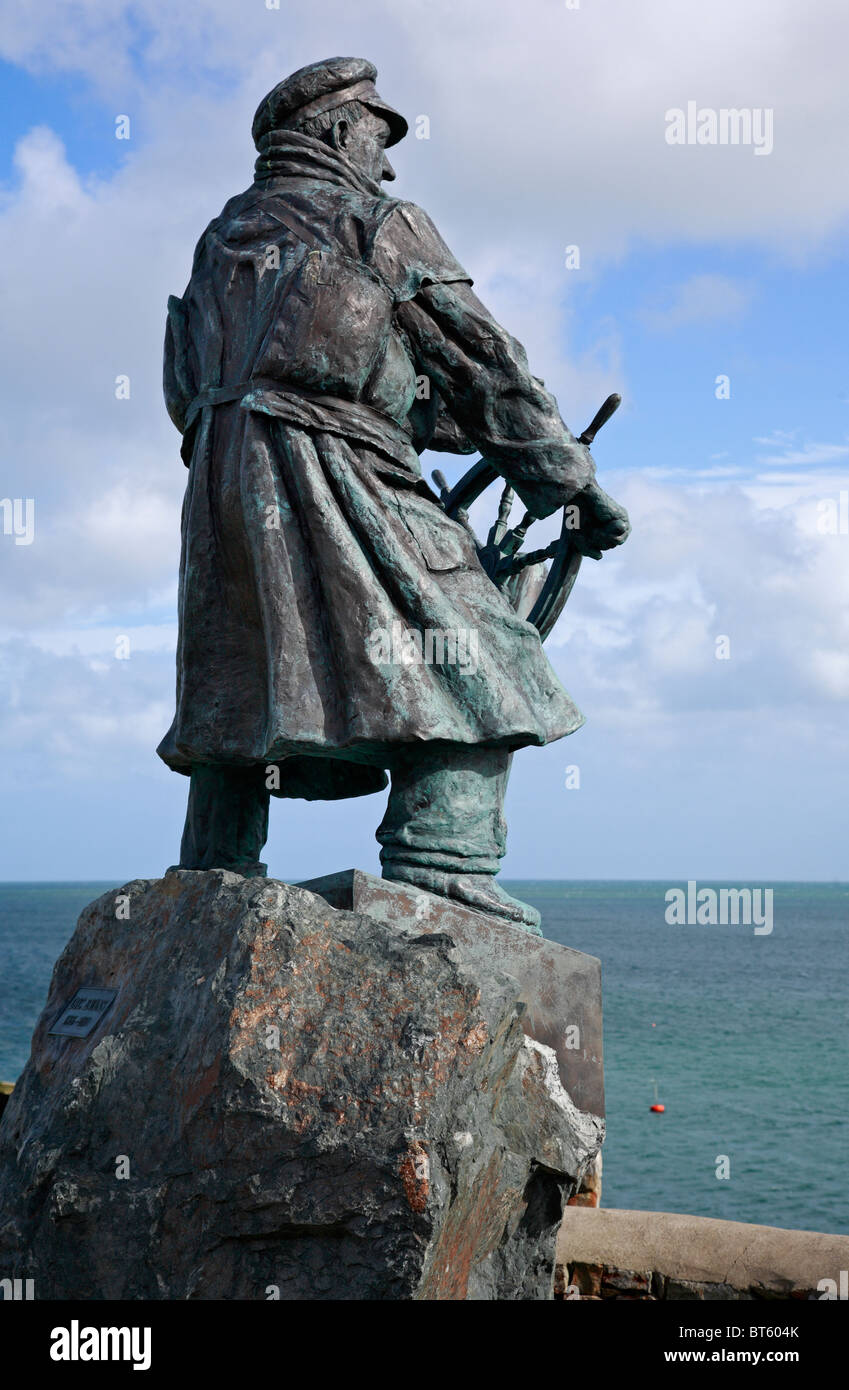 Royal Charter Disaster Scuplture to Commemorate the Ships Loss, Moelfre Harbour, Anglesey, North Wales UK United - Stock Image