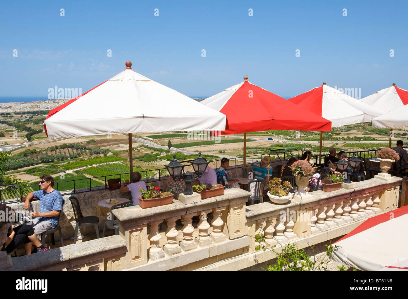 Restaurant Fontanella Tea Gardens In Mdina Malta Stock Photo Alamy