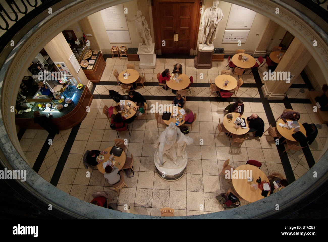 Cafe Restaurant Cafeteria Walker Art Gallery Liverpool Bar Brown Stock Photo Alamy