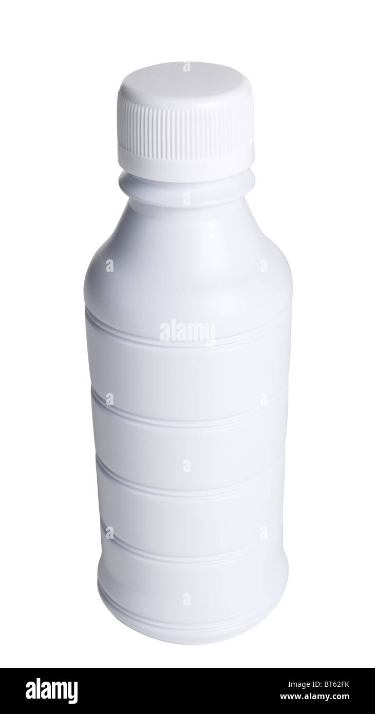 White plastic bottle - Stock Image