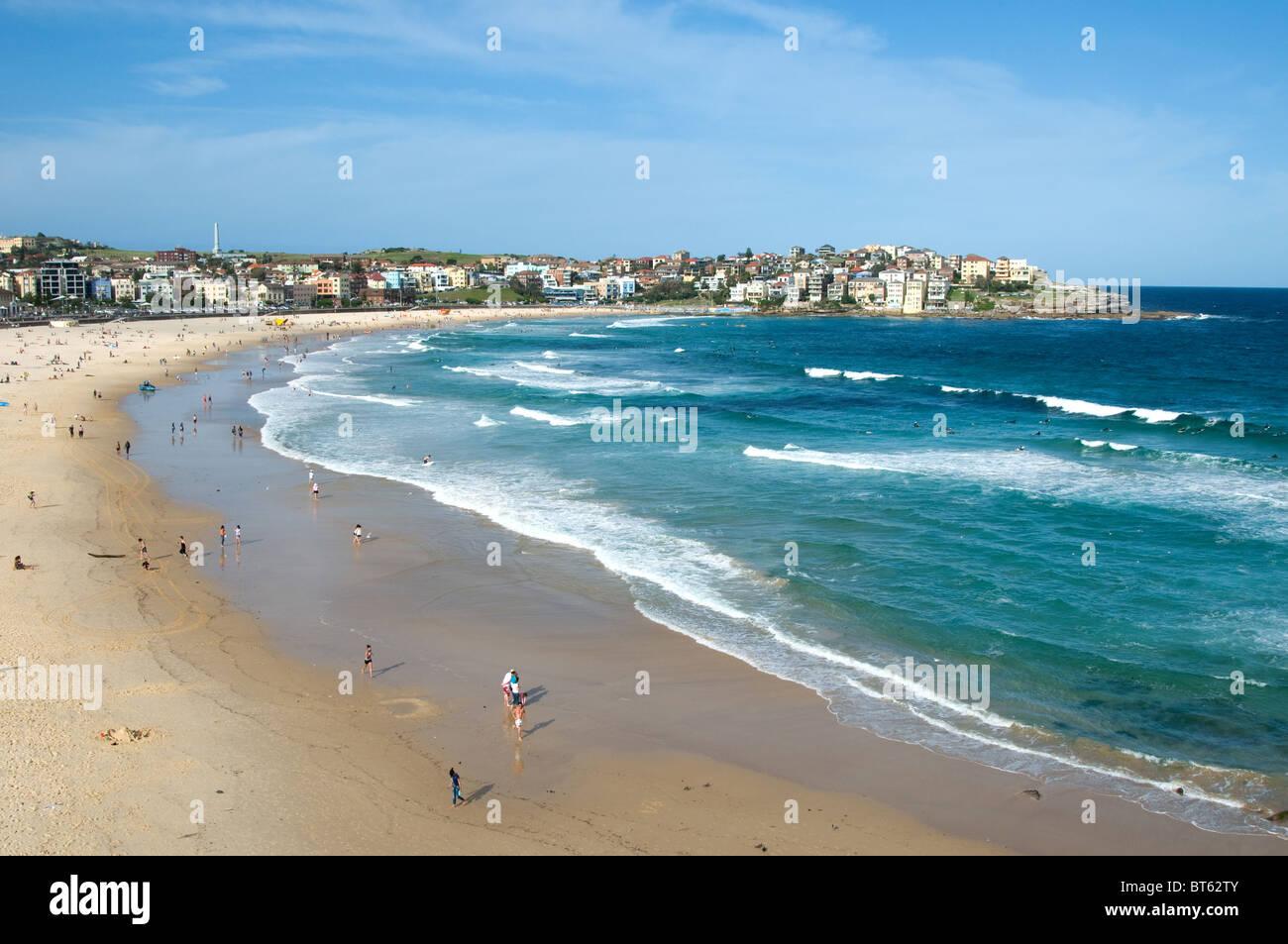 4e4f1b4e420024 bondi beach sydney australia aussie surf surfer wave blue sea board walking  out big wet suit sunny day blue sky sun bathing sand