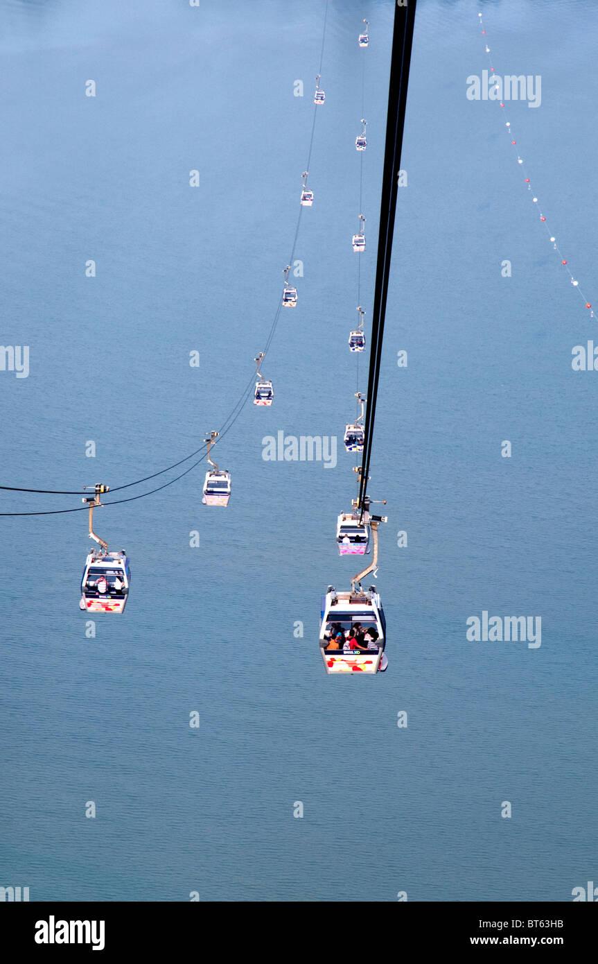 ngong ping 360 skyrail  capsule cable car lantau island tung chung - Stock Image