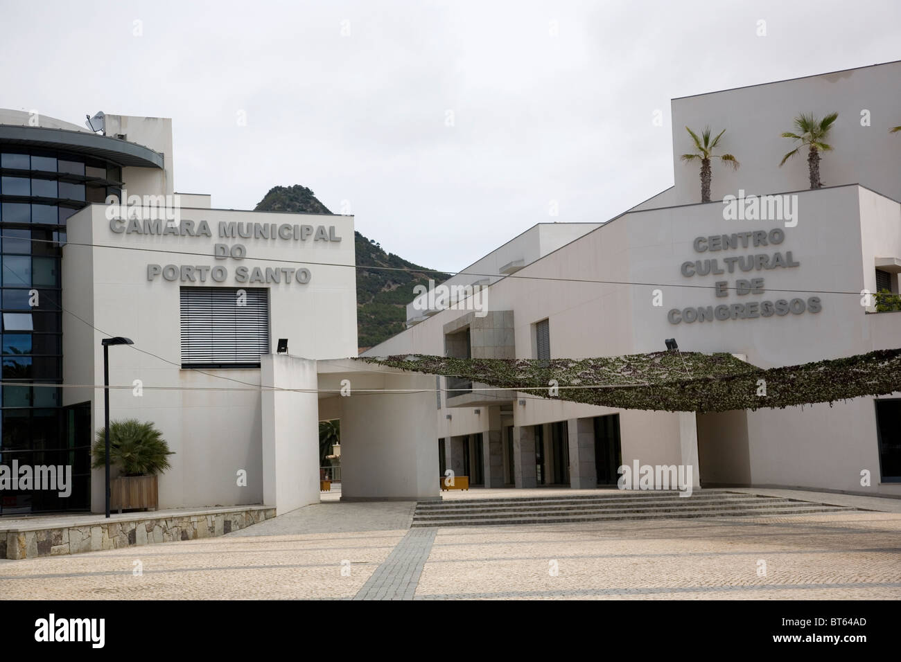 Town Hall of Porto Santo - Madeira - Stock Image