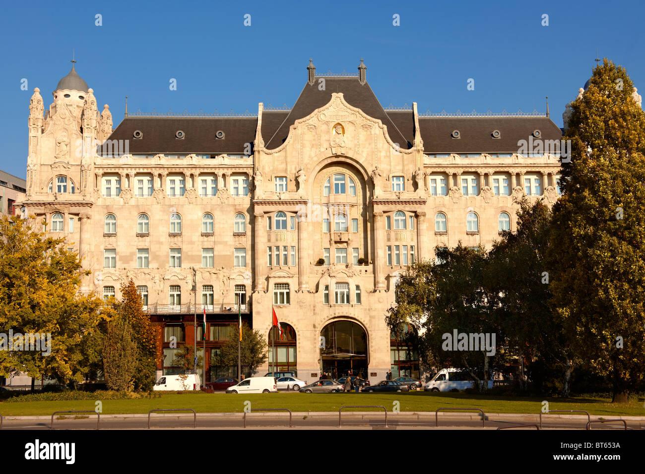 Four Seasons Hotel in The Art Nouveau Gresham Palace, Budapest, Hungary Stock Photo