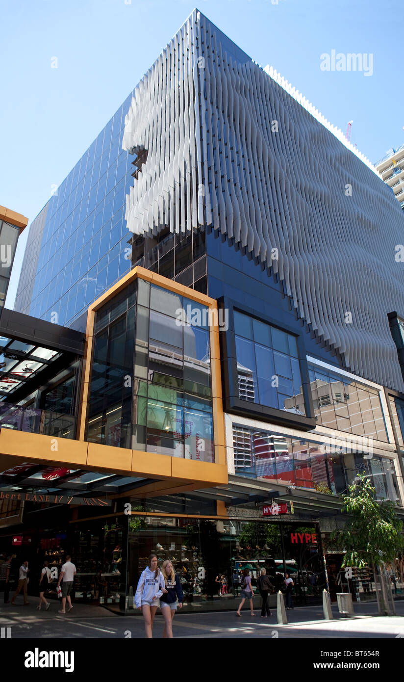 Albert Street Mall, Brisbane, Queensland, Australia - Stock Image