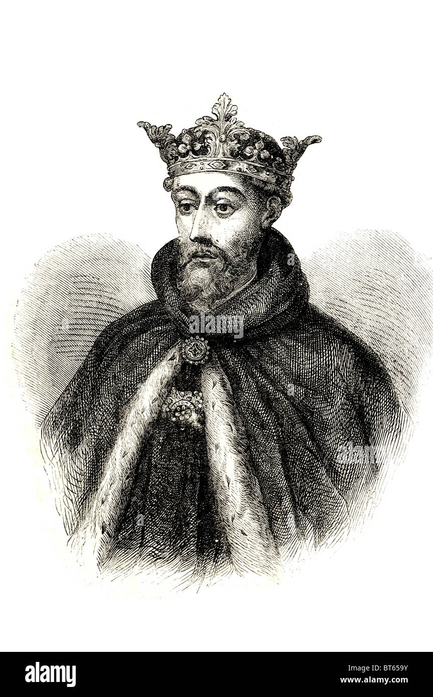 john of gaunt Ghent 1st Duke of Lancaster KG 6 March 1340 – 3 February 1399 House of Plantagenet, King Edward III - Stock Image