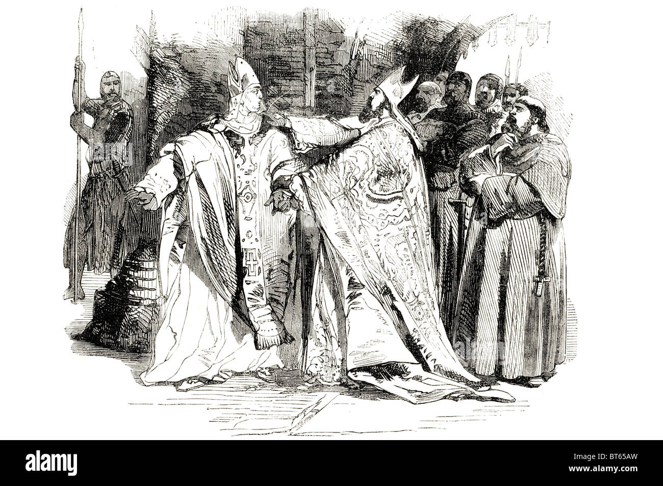 William de Longchamp chancellor arresting hugh pudsey bishop of durham died  1197 or Longchamps, medieval Lord Chancellor, Chief