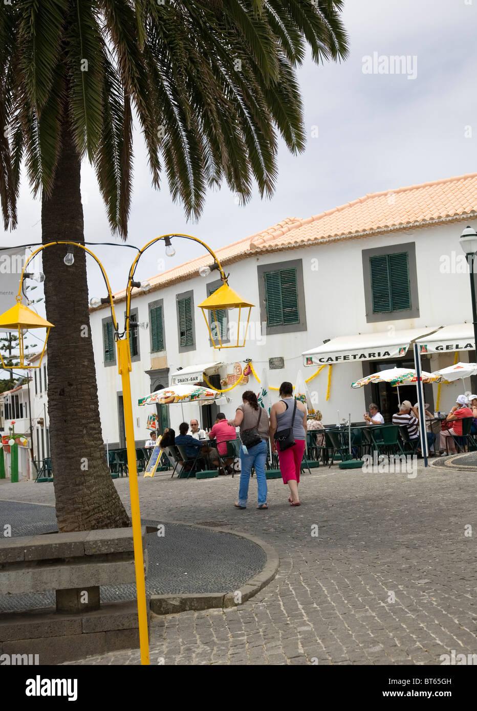 Porto Santo Town Square - Stock Image