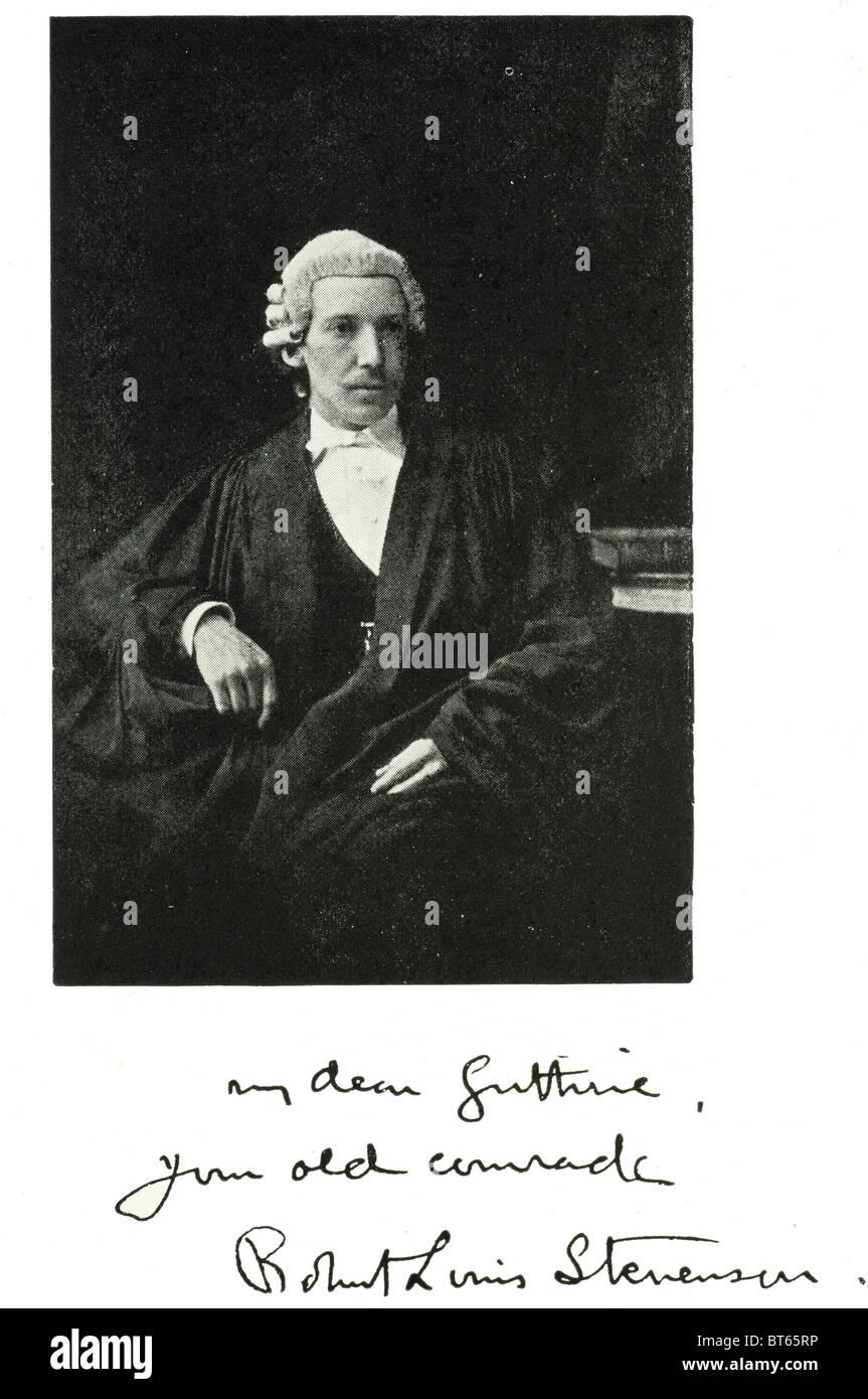 robert louis Balfour stevenson graduate University of Edinburgh 1866 13 November 1850 – 3 December 1894 Scottish - Stock Image