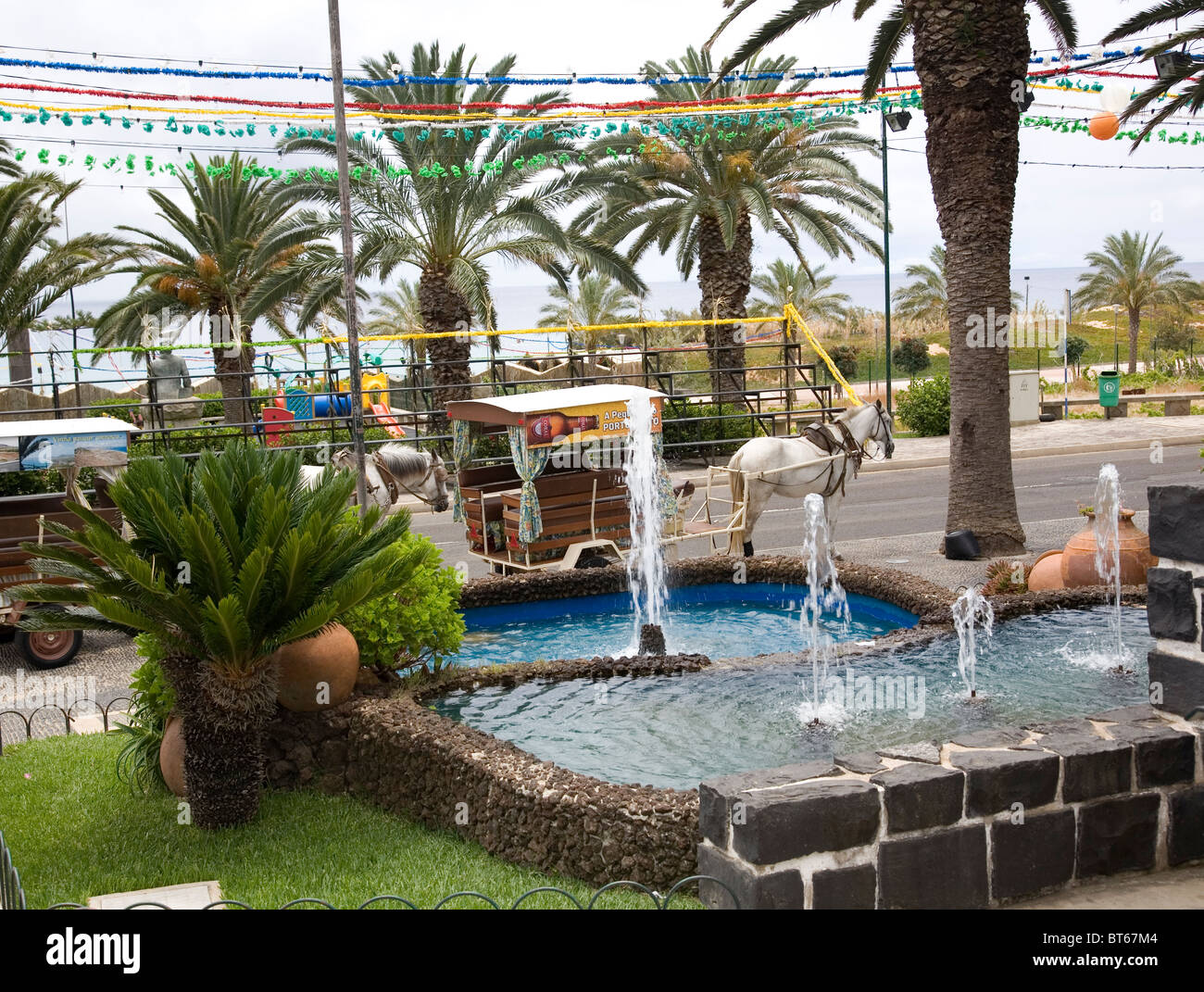 Porto Santo Fountain - Stock Image