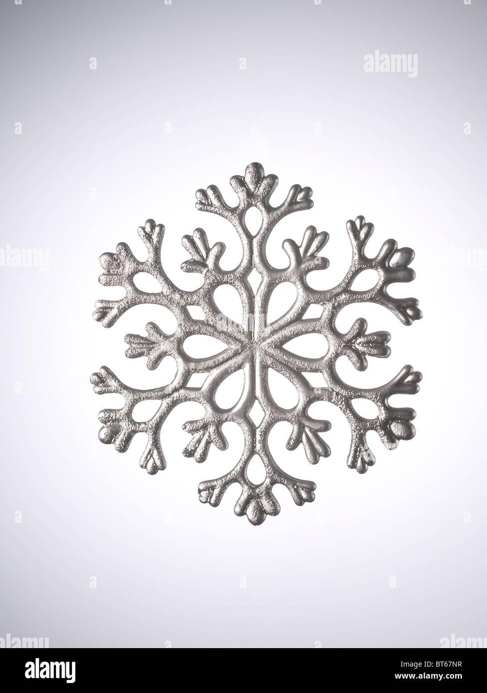snow flake Christmas ornament - Stock Image