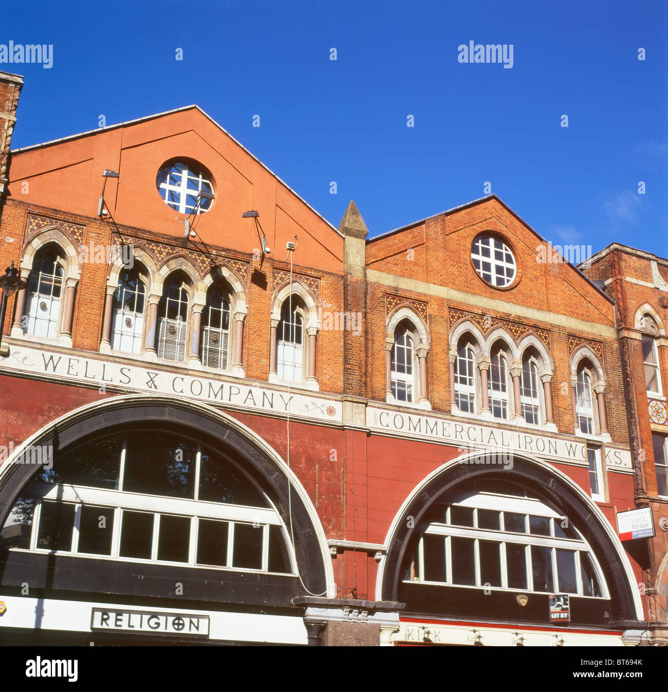 Wells and Company Commercial Ironworks factory urban loft building property to let in Shoreditch East London, Britain - Stock Image
