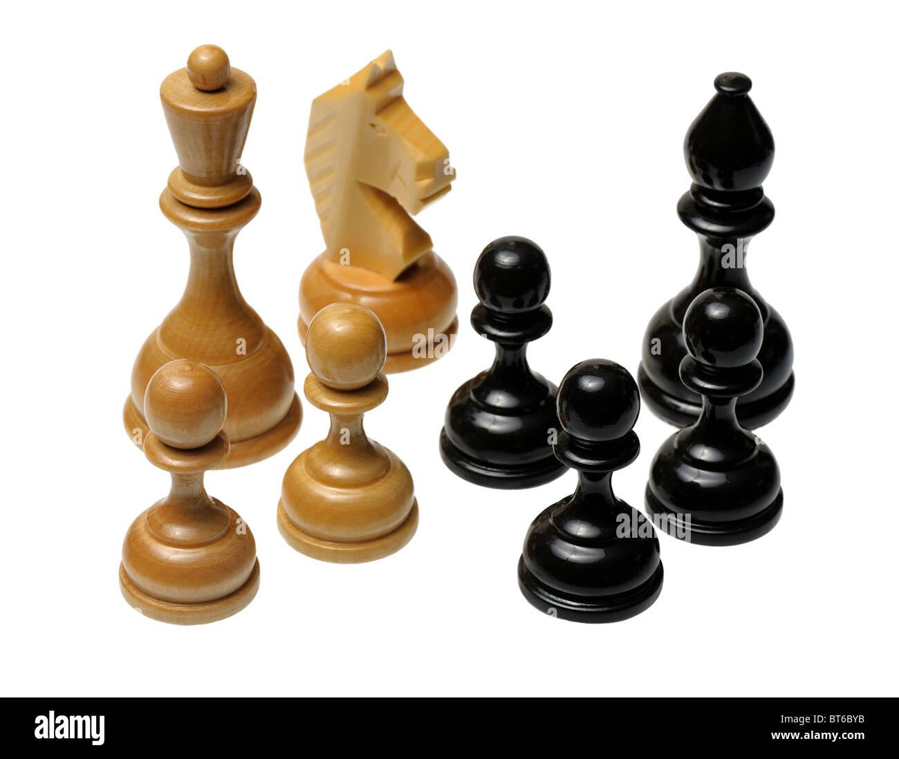 Chessmen - Stock Image