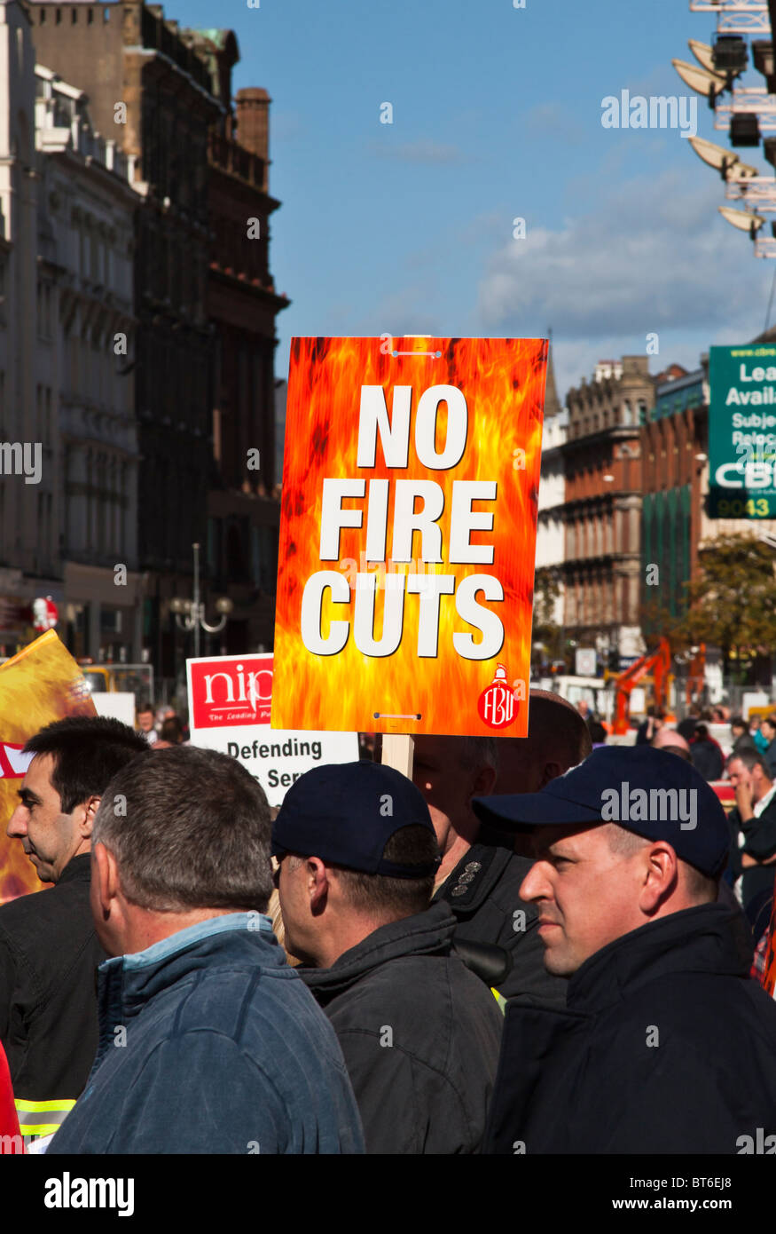 Demonstration by Public Sector Workers against Government cuts, Belfast - Stock Image