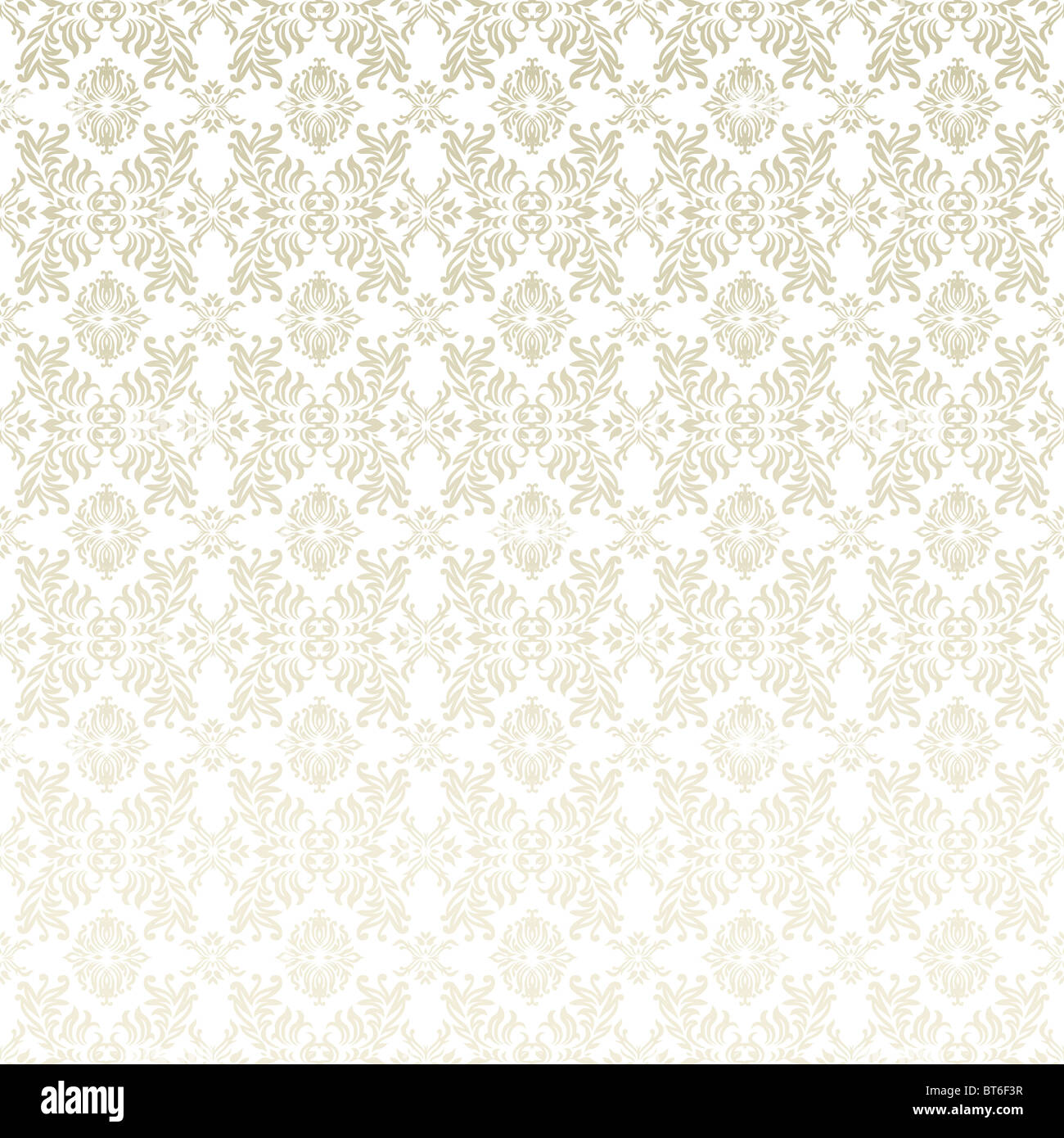 Classic Gothic Floral Wallpaper Background Pattern In White And Beige