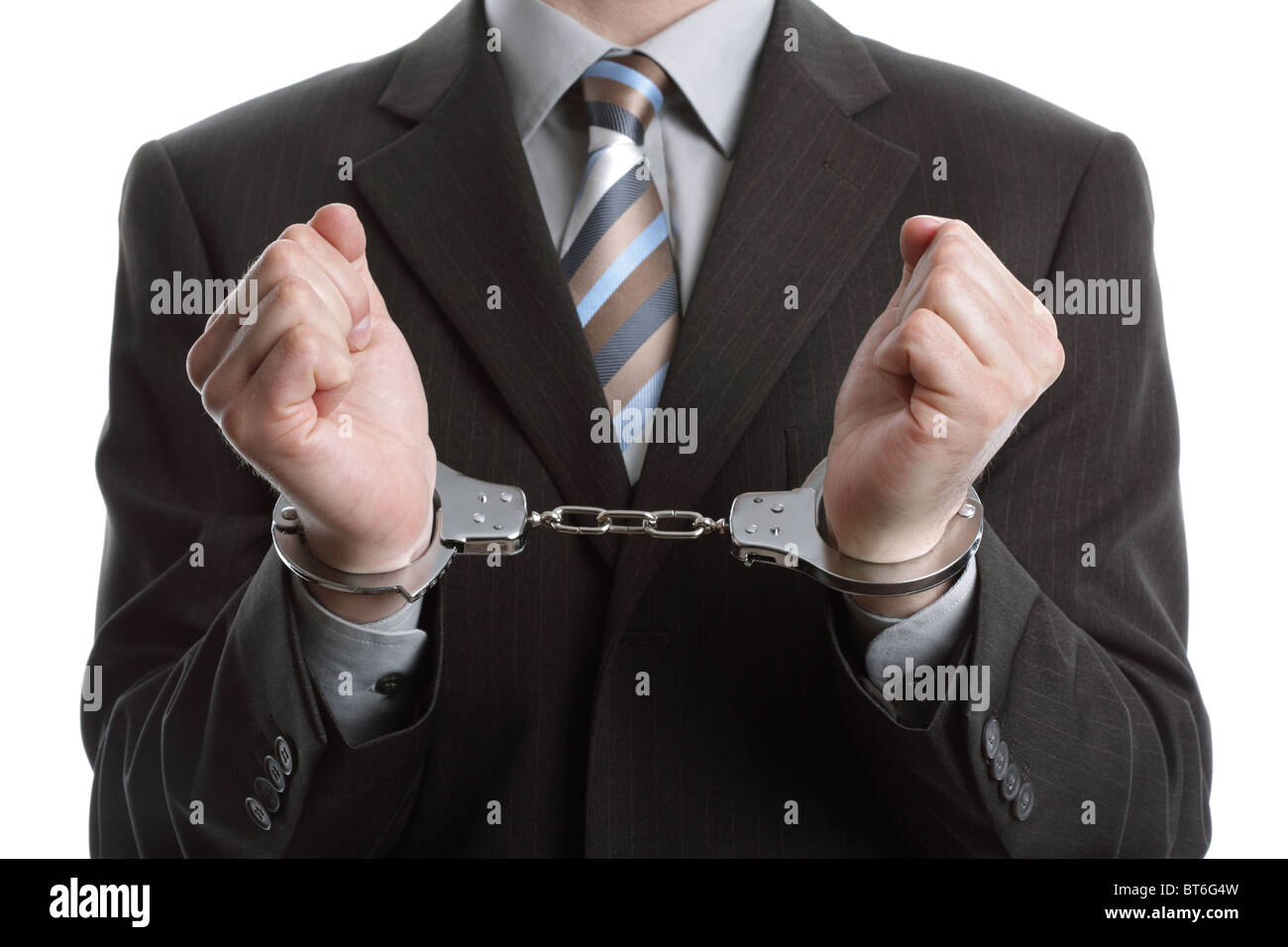 Corporate crime - Stock Image