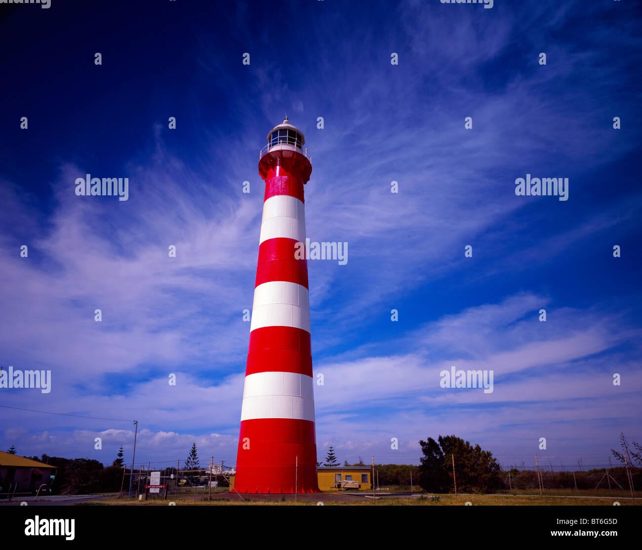 Point Moore Lighthouse, Western Australia, Australia, Geraldton, Indian Ocean, Batavia Coast - Stock Image