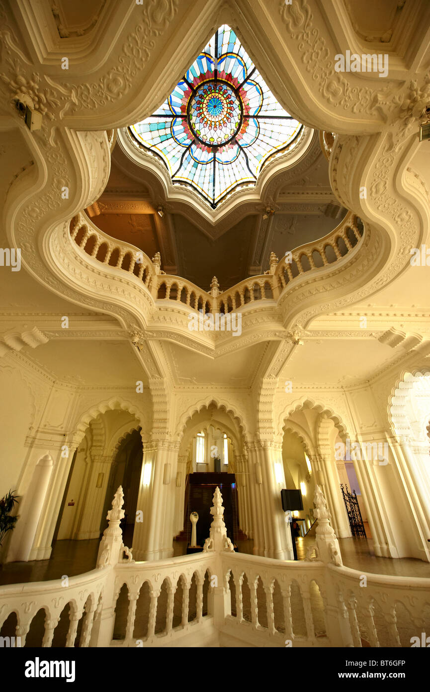 The interior of the Art Nouveau Museum of Applied Arts . Budapest Hungary - Stock Image