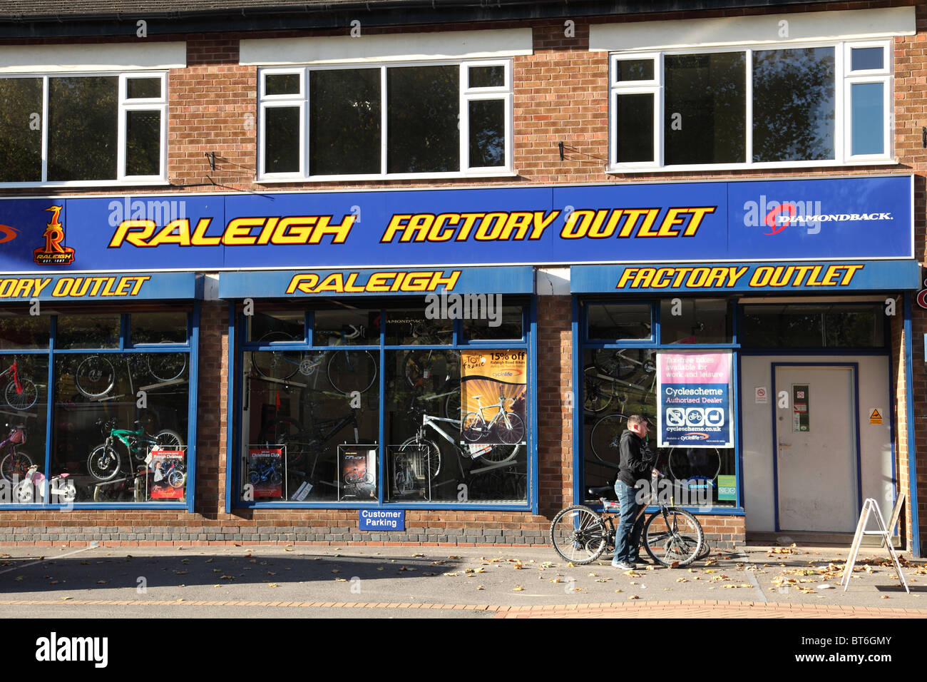 The Raleigh cycle factory outlet in Nottingham, England, U.K Stock Photo:  32106955 - Alamy