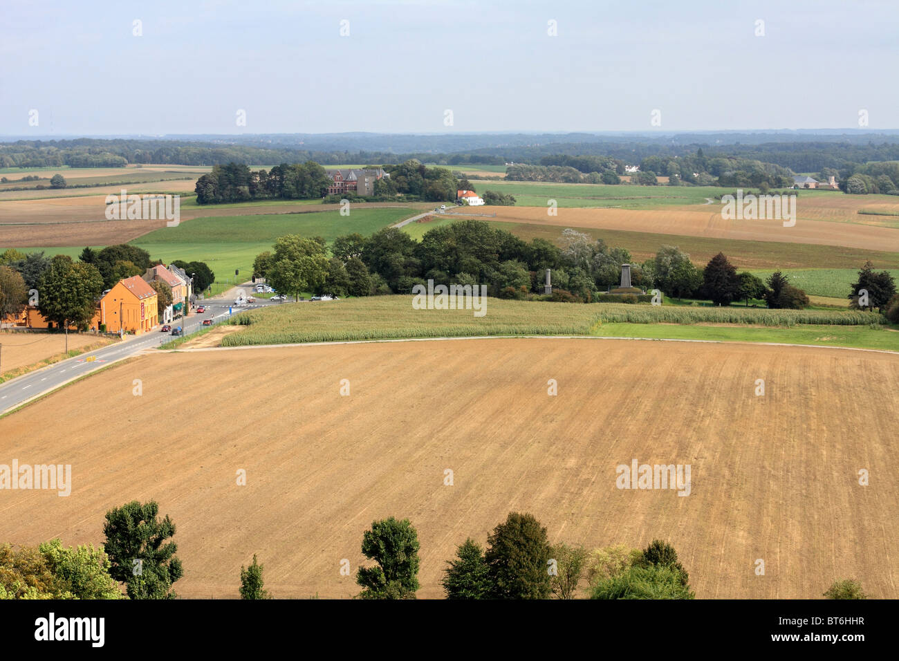 View of  Hougoumont farmhouse a key location on the battlefield of Waterloo Belgium fought in 1815 - Stock Image