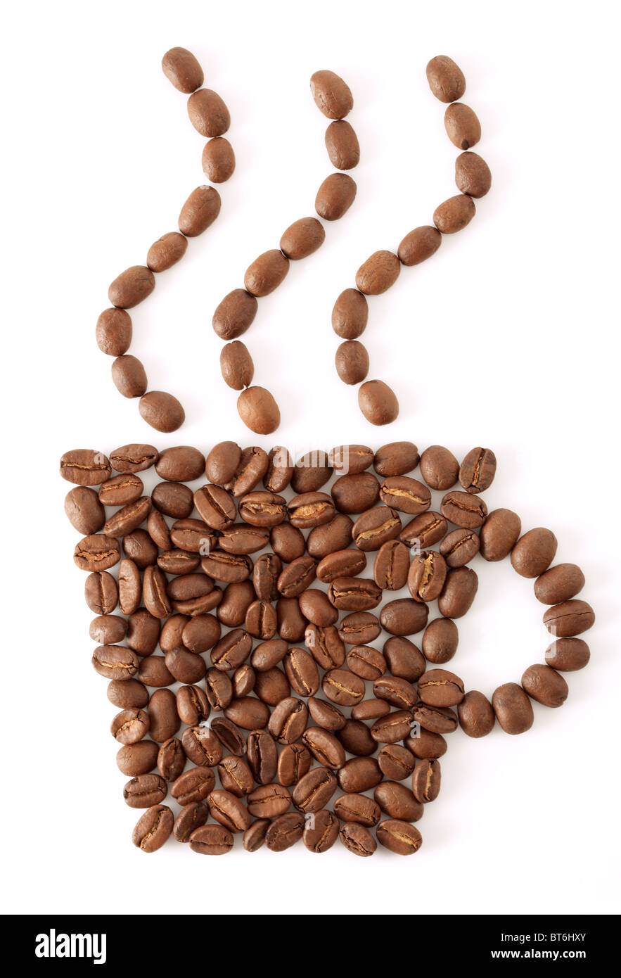 Coffee bean cup - Stock Image
