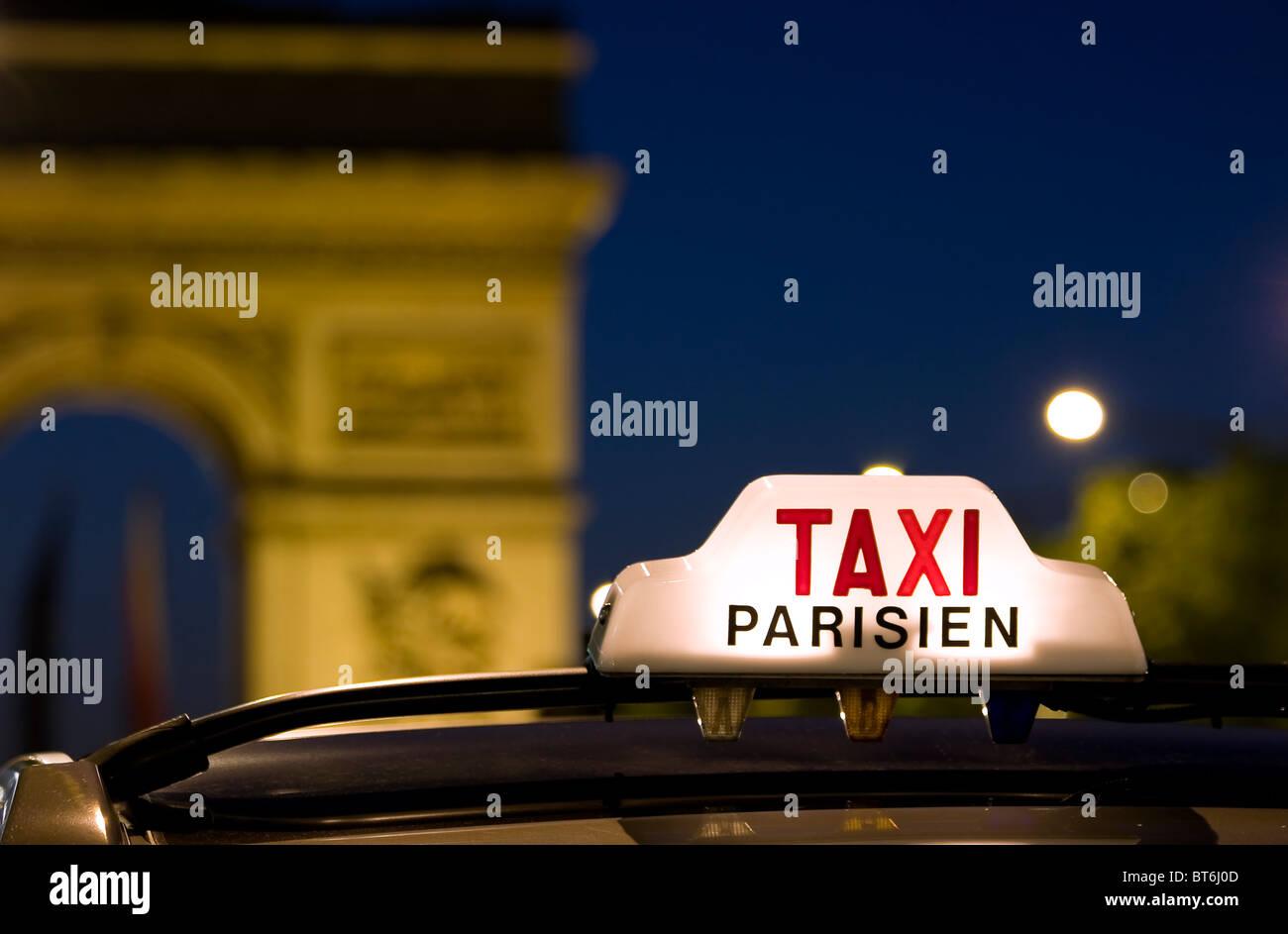 Paris taxi - Stock Image