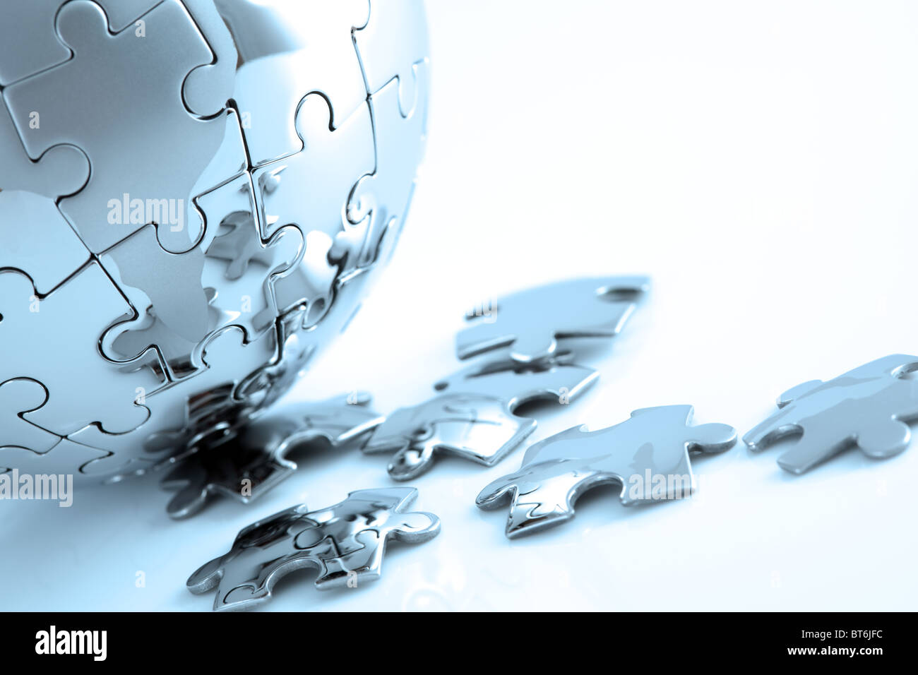 Global strategy and solution - Stock Image