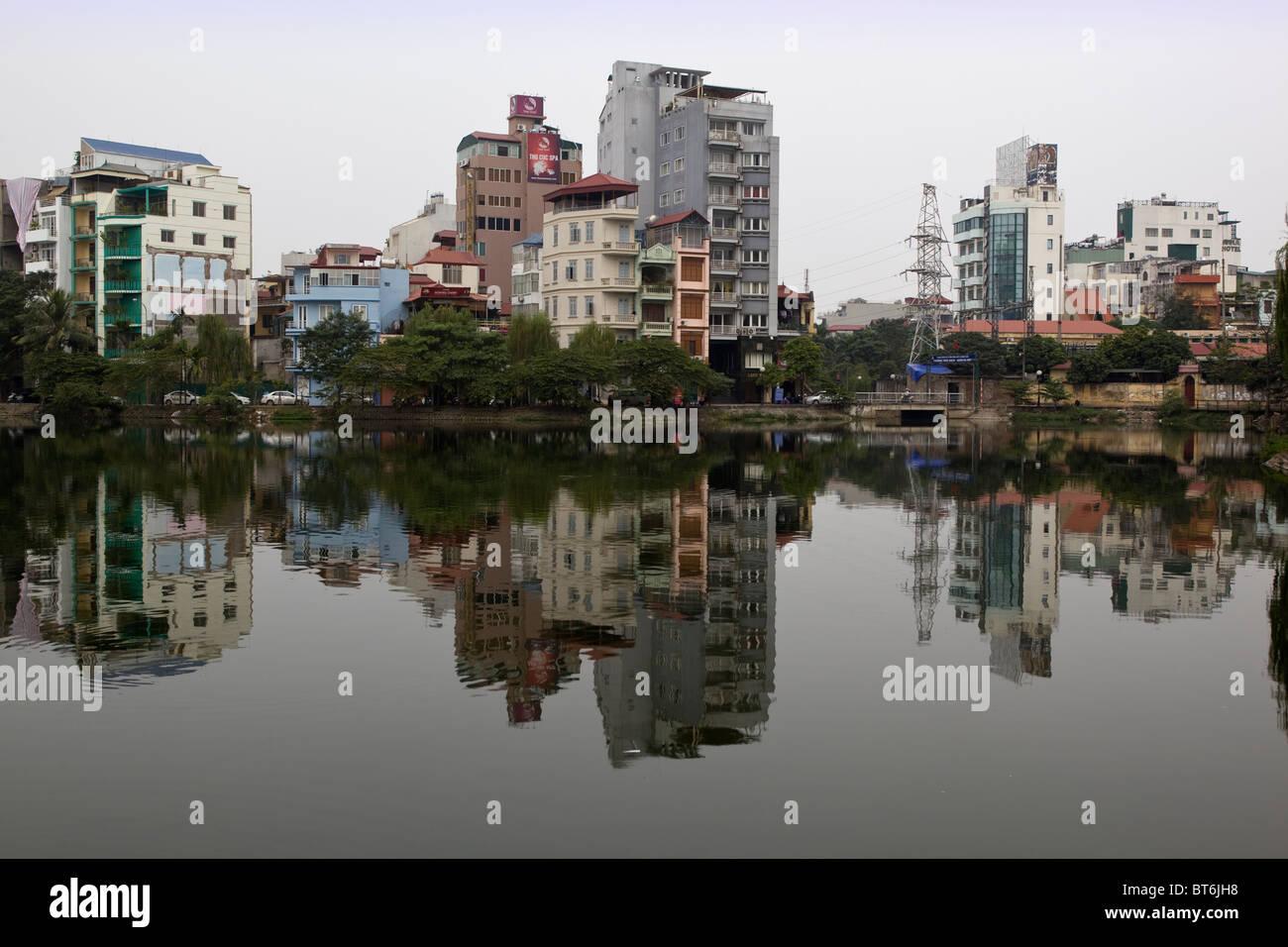 Truc Bach Lake North Hanoi Vietnam - Stock Image