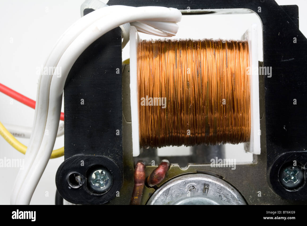 Coil Of Copper Wire In Electric Motor Stock Photo 32109177 Alamy Electrical