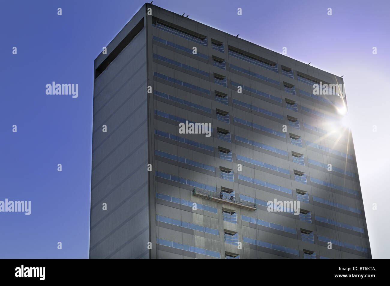 Window washers working - Stock Image