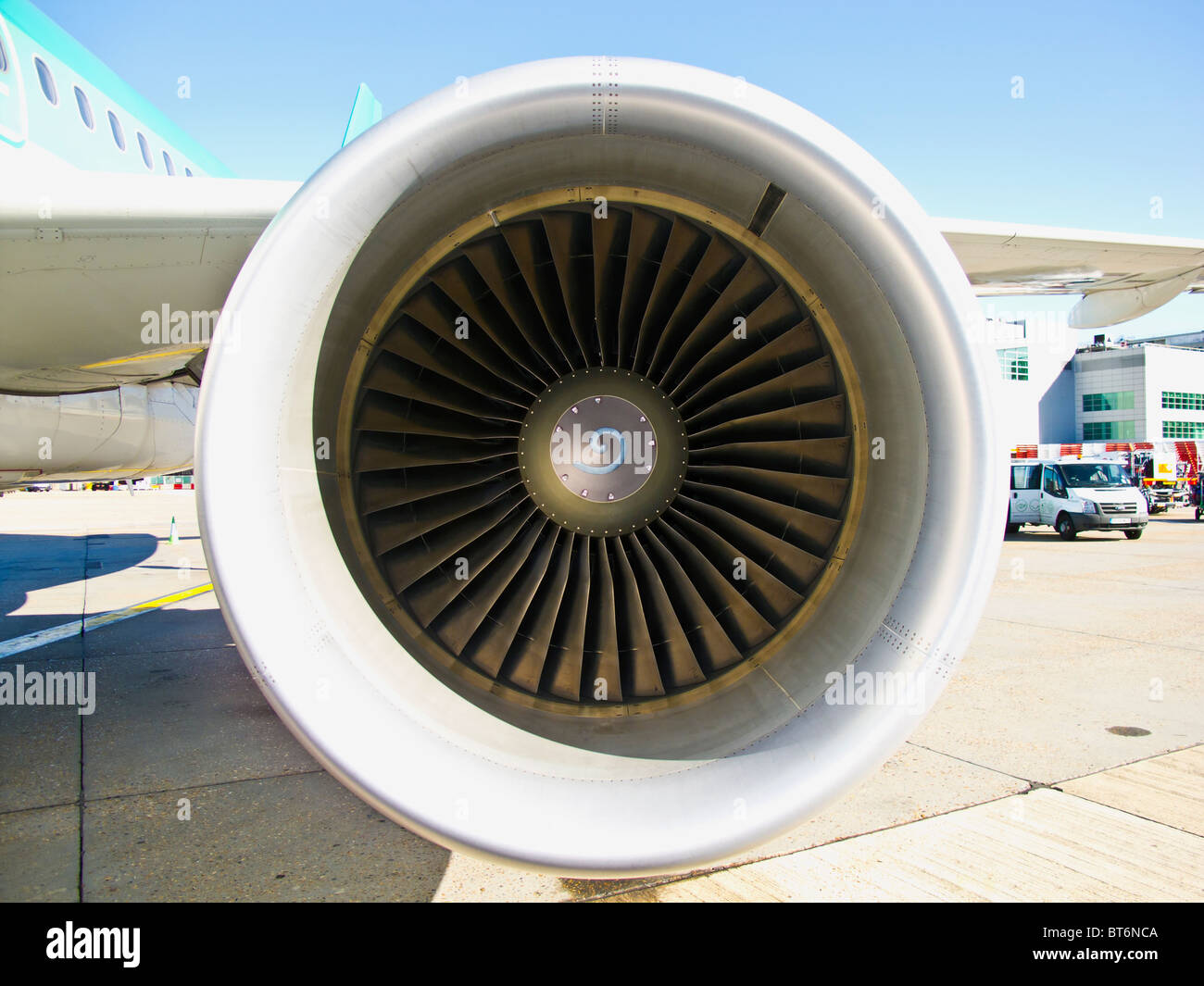Airbus A320 engine - Stock Image