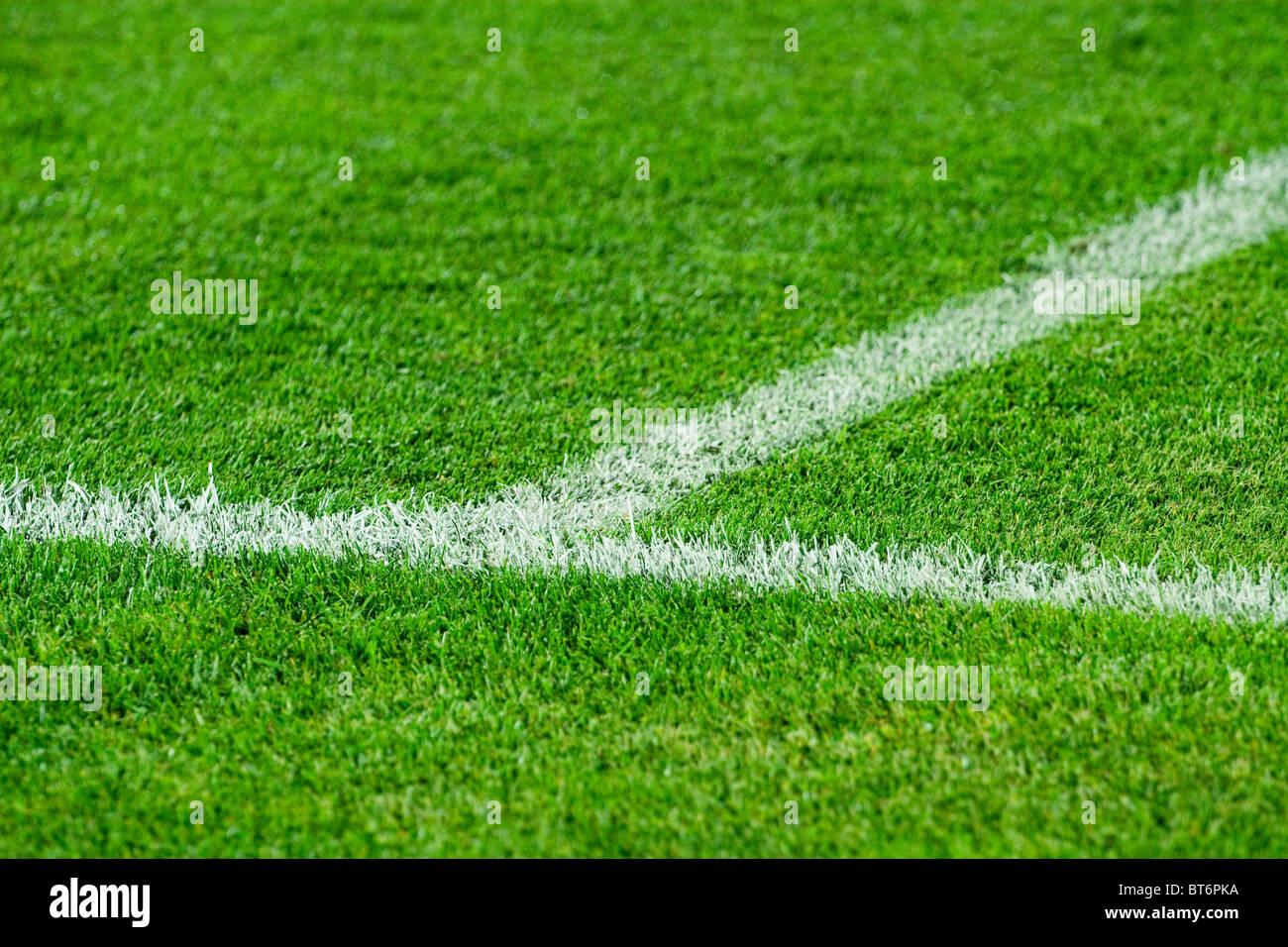 grass soccer field. White Line On A Soccer Field Grass O