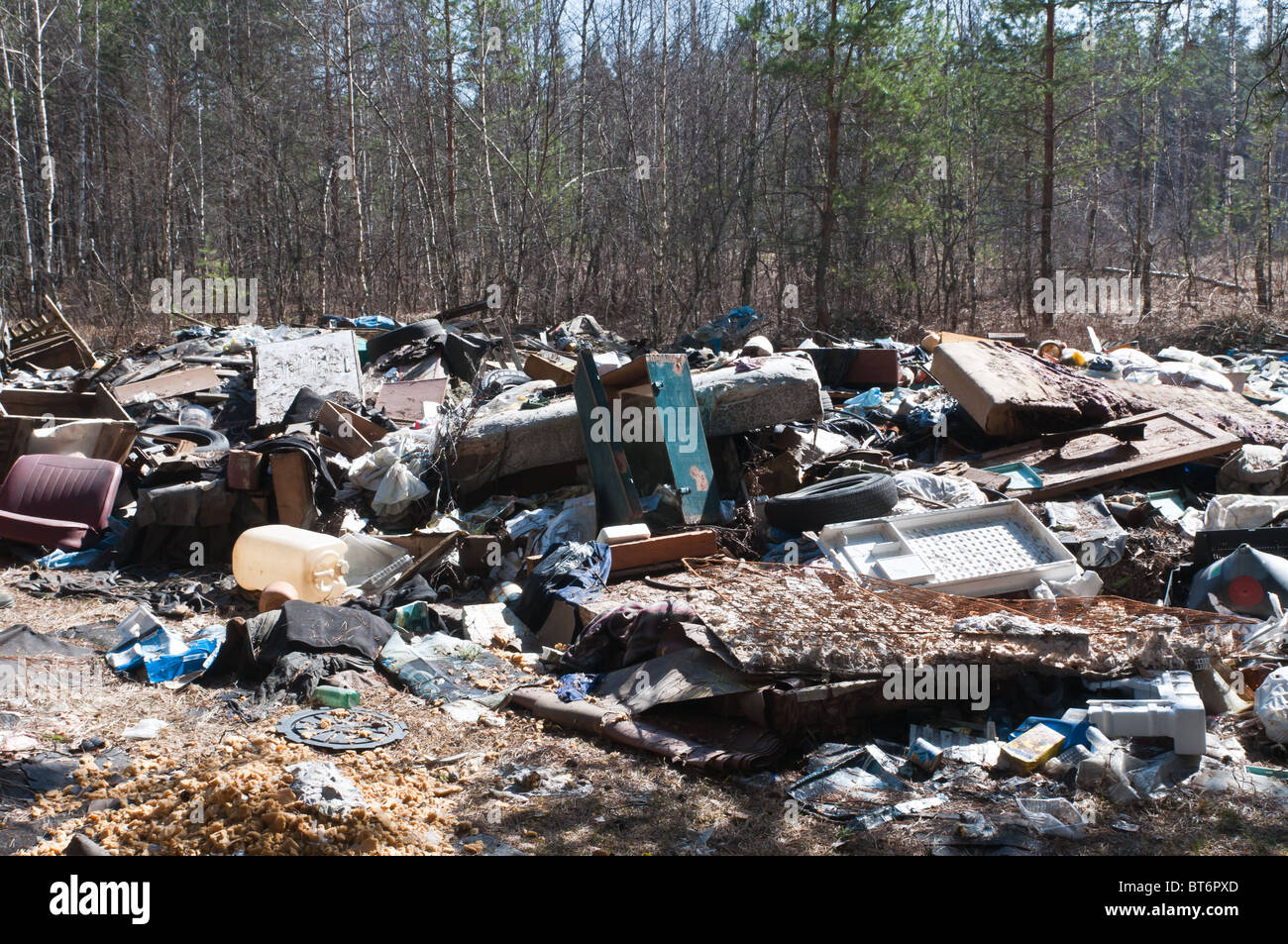 Garbage in nature - Stock Image