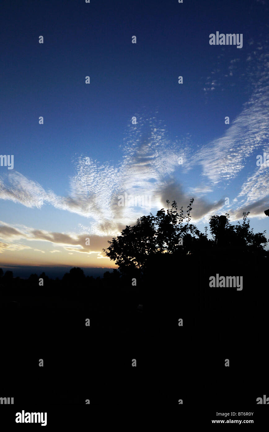 August sky at snset Stock Photo