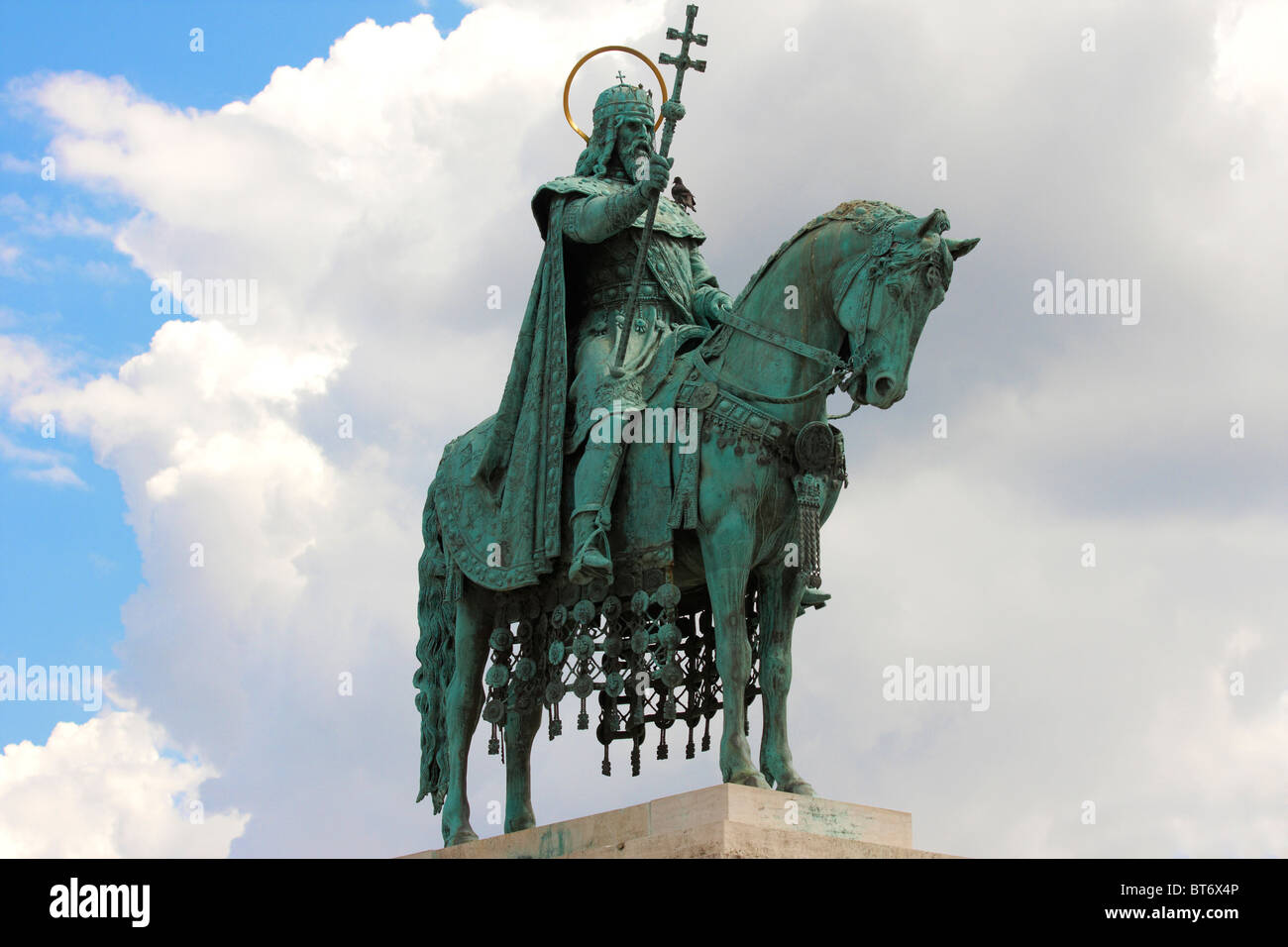King Saint Stephen statue in Budapest, Hungary Stock Photo