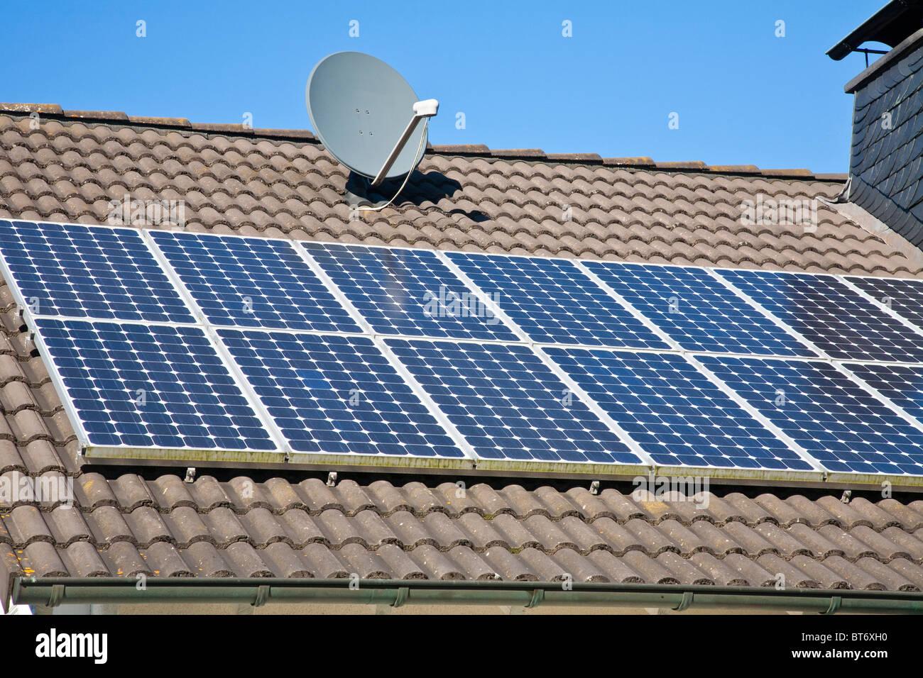 Solar roof panels - Stock Image