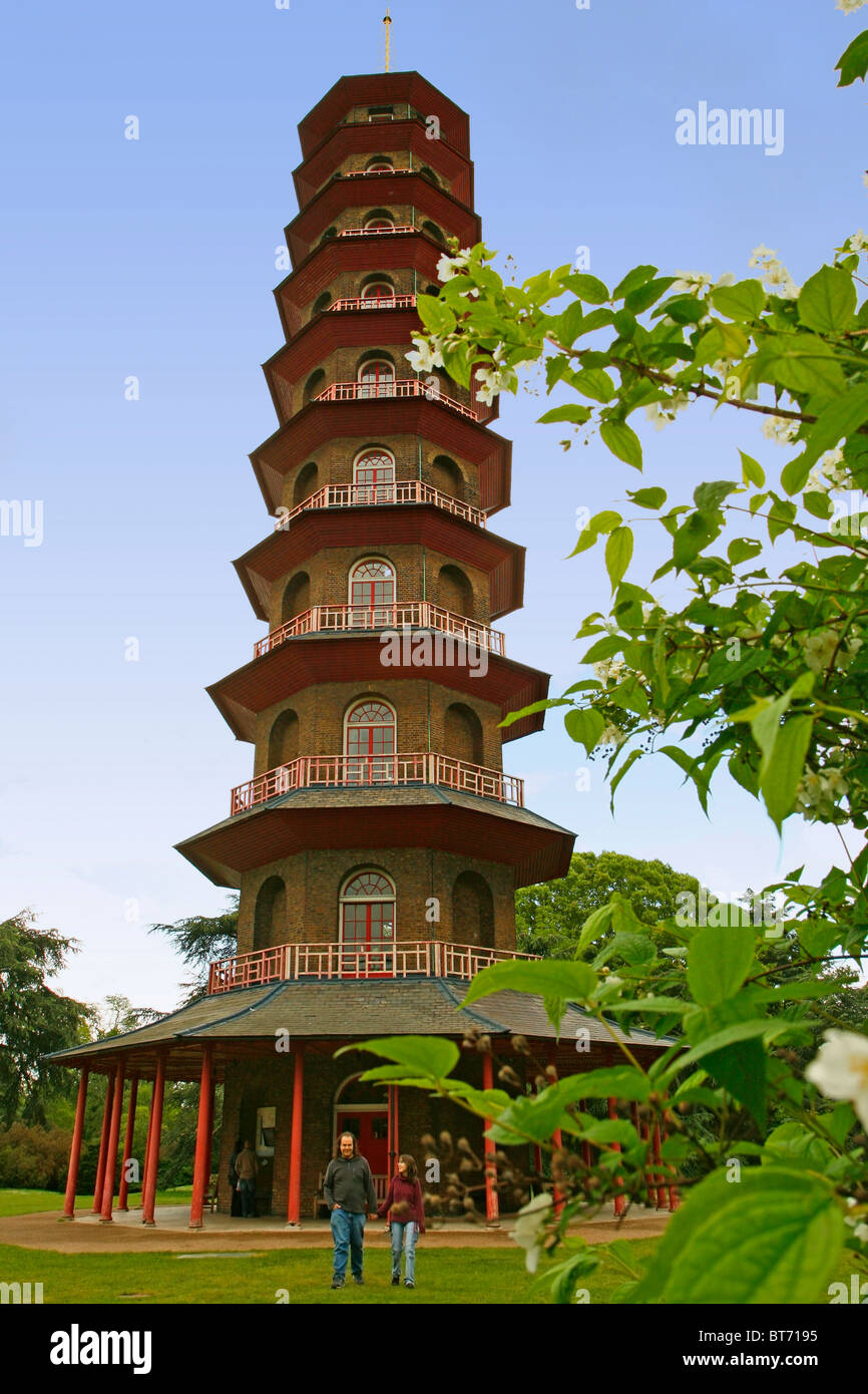 Royal Botanic Gardens Kew. Richmond, London. Pagoda Stock Photo ...