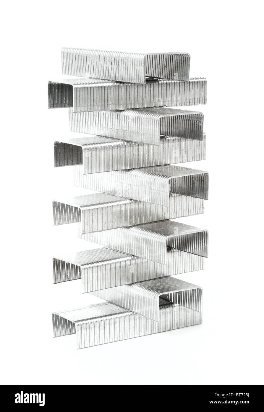 Staples isolated on white background - Stock Image
