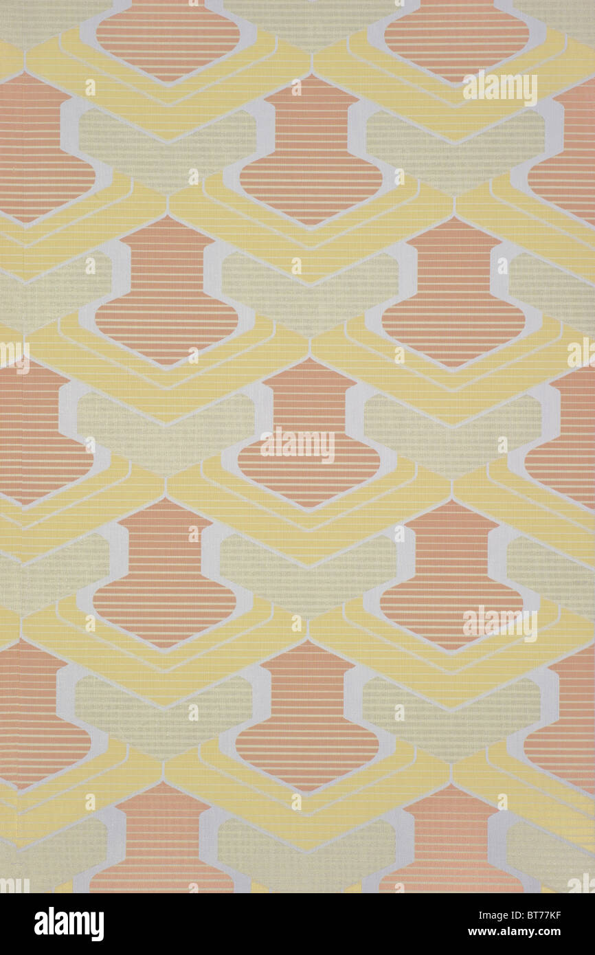 Wallpaper from the 1960s or 1970s - Stock Image