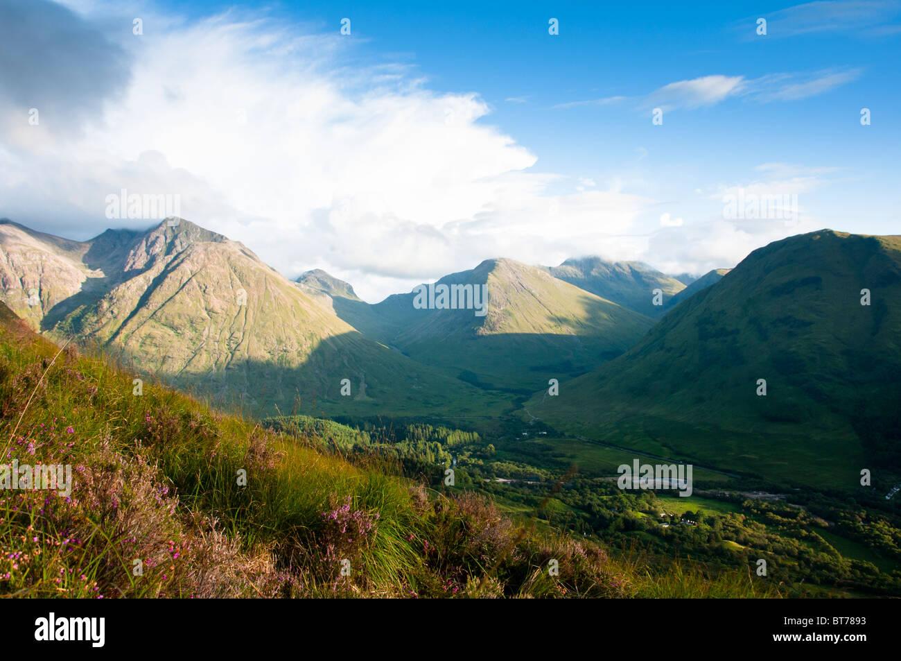 Mountains at Glencoe, Scottish highlands. - Stock Image